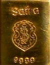 Safra 0.50-ounce .9999 pure gold bullion bar