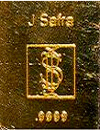 J Safra 0.50- ounce .9999 pure gold bullion bar