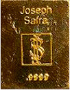 Joseph Safra 0.50- ounce .9999 pure gold bullion bar